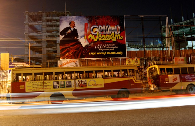 One night in Trivandrum and communist posters of Kerala