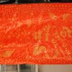 Po pierwszym barwieniu tkaninę suszymy