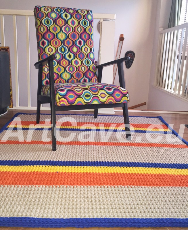 Cotton-rope Crochet Rug – perfect for nursery