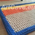 crochet cotton rope rug for sale dublin