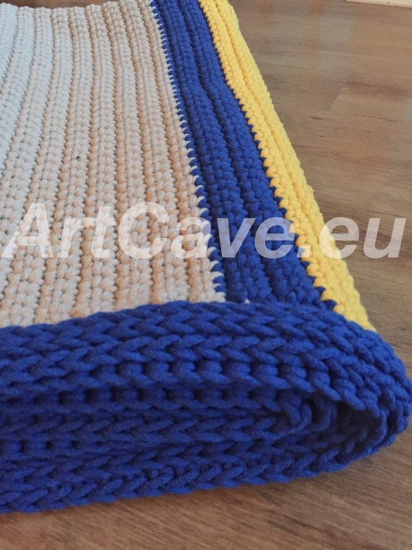 crochet cotton rope rug